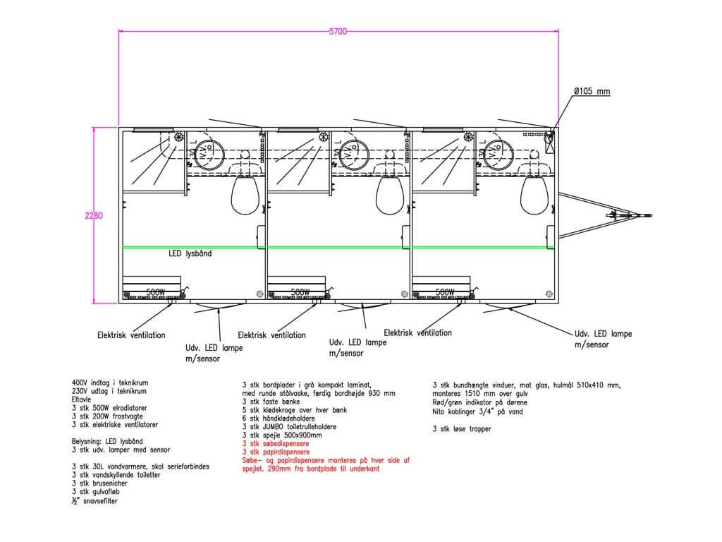 Vogn-med-3-badeværelsesrum-med-eget-toilet-(til-afløb)
